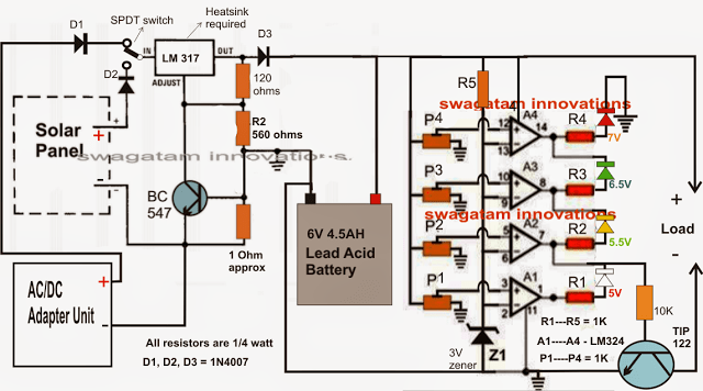 6V Solar Battery Charger Circuit