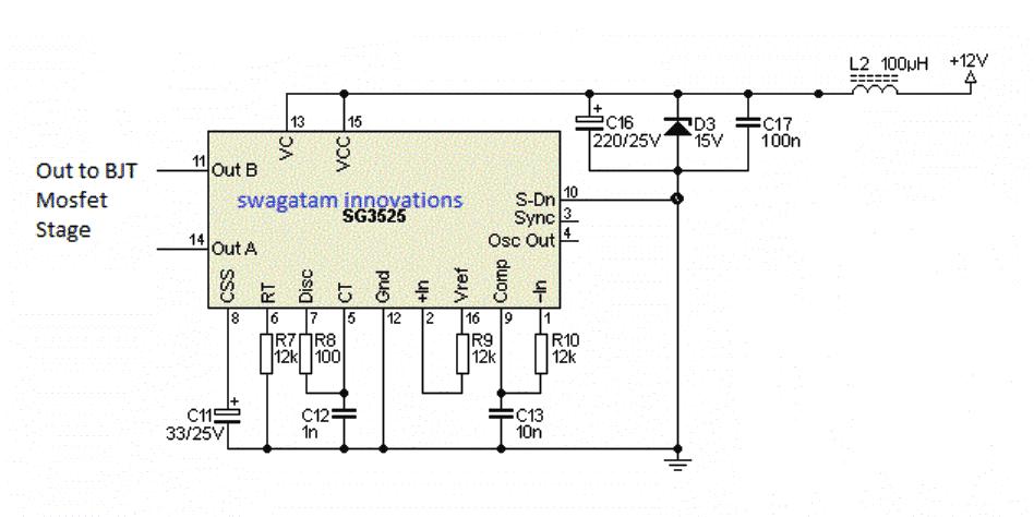 Sg3525 Pure Sine Wave Inverter Circuit | Unixpaint