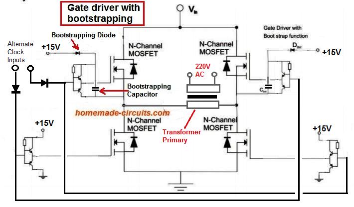 Arduino Full-Bridge (H-Bridge) Inverter Circuit