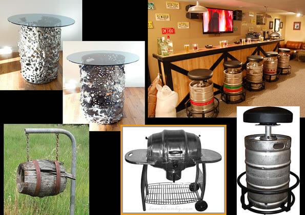 Beer Barrels Upcycled As Furniture Repurposed As Seat Or