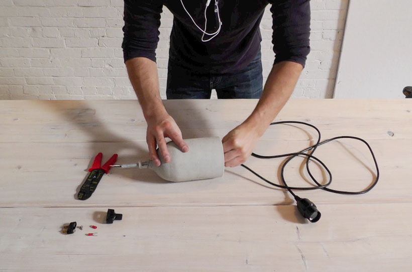 HomeMade Modern DIY EP9 Concrete Pendant Lamp Step 9