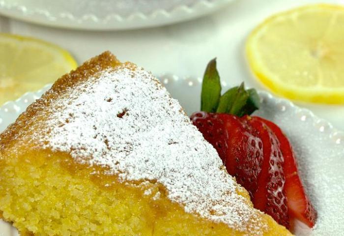 Vibrant Lemon Polenta Cake Homemade Yummy