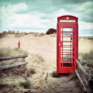 phone booth, beach, lonely