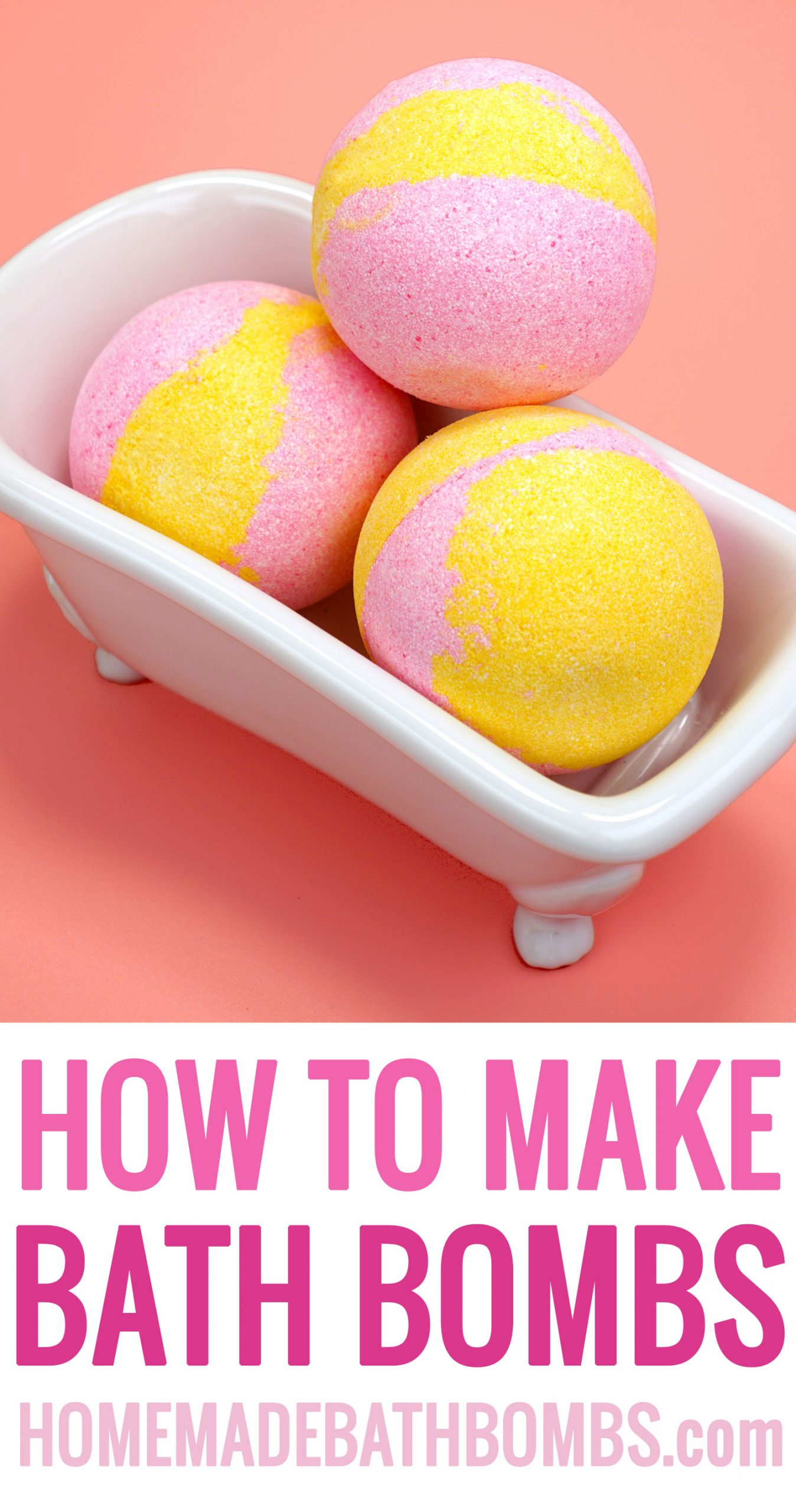 Learn how to make bath bombs with our easy-to-follow step-by-step tutorial and bath bomb recipe! DIY bath bombs make a great inexpensive homemade gift idea! via @hihomemadeblog