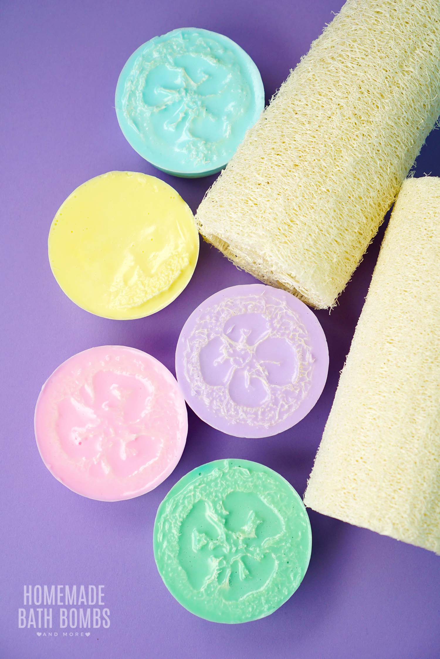Homemade Coconut Loofah Soaps