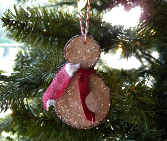 Make This Love Able Snowman Ornament From The Branches Of Your First Christmas Tree