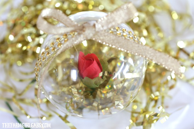 Beauty And The Beast Enchanted Rose Ornament Homemade