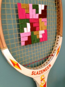 Embroidered Tennis Racket by homemadecity.com