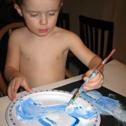 Holiday Painting for Toddlers