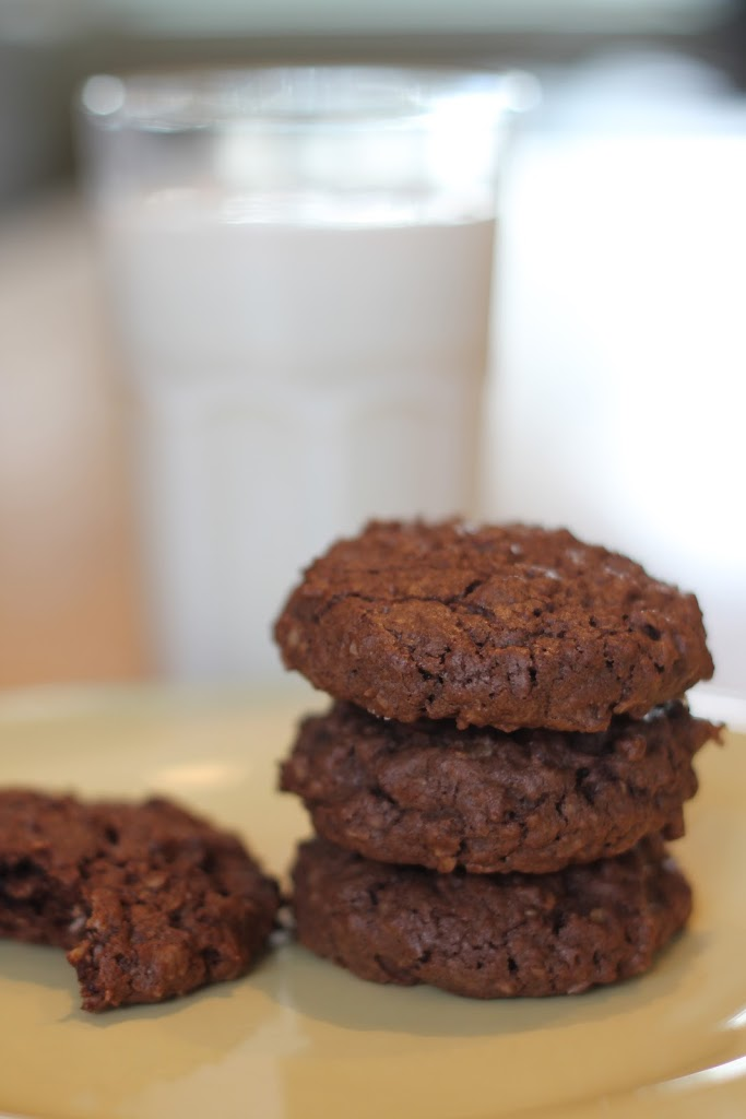Double Chocolate Chip Oatmeal Cookies