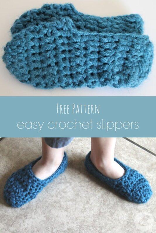 easy crochet slipper free pattern