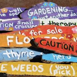 Driftwood Garden Signs
