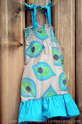 The Peacock Ruffle Dress