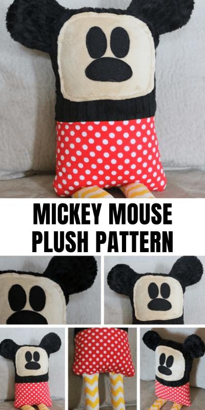 mickey mouse plush pattern