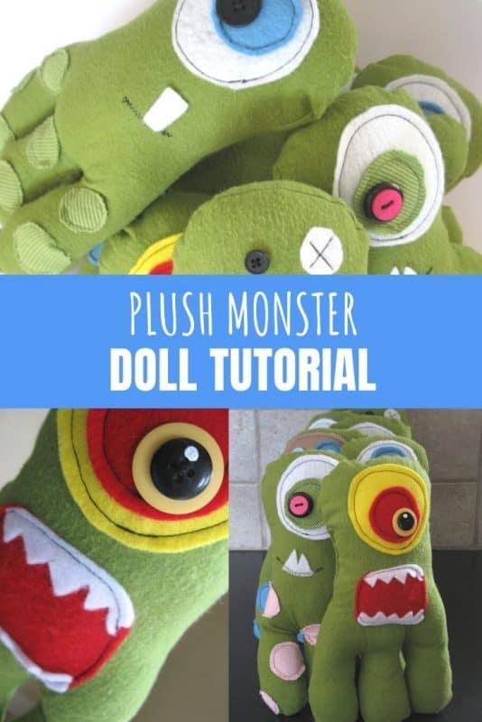 plush monster doll tutorial