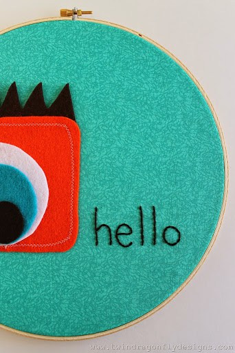 monster embroidery hoop art thumb b d