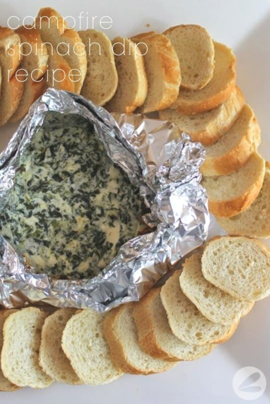Campfire Spinach Dip Tinfoil Packet Recipe