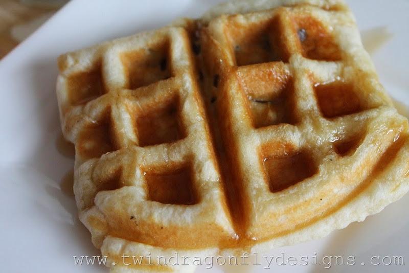 Waffle Iron Apple Strudel