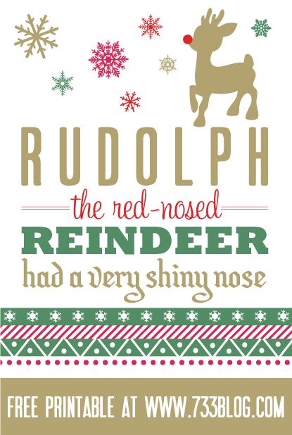 Rudolph Printable