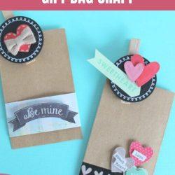 valentine gift bag craft