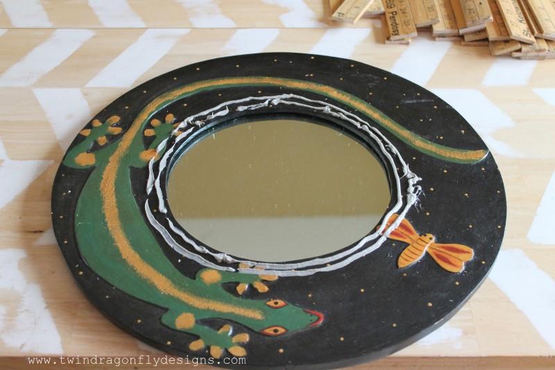 DIY Yardstick Mirror
