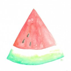 Watercolor Watermelon Printable
