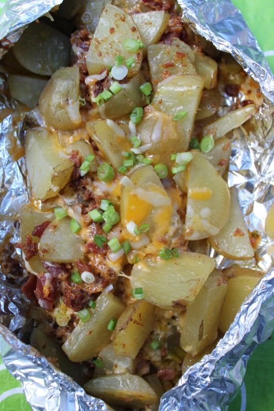 Loaded Campfire Potatoes