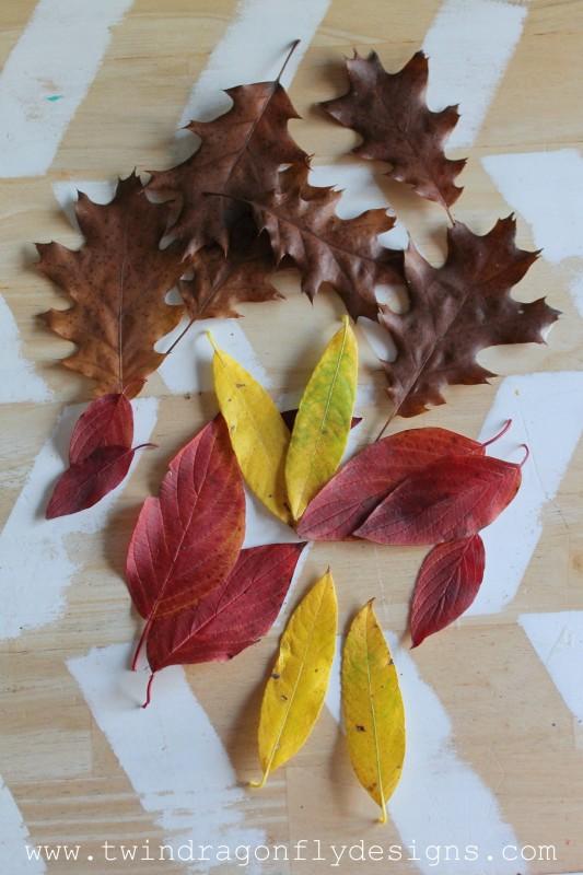 DIY Painted Leaf Garland