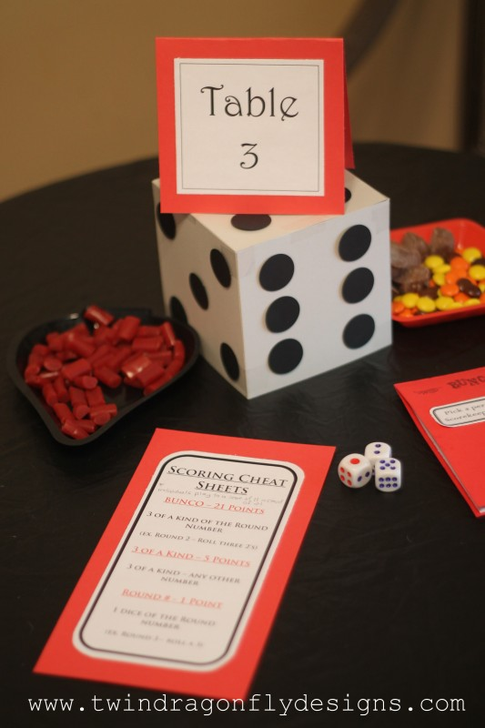 Bunco Games Night Ideas