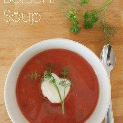 Hearty Borscht Soup Recipe