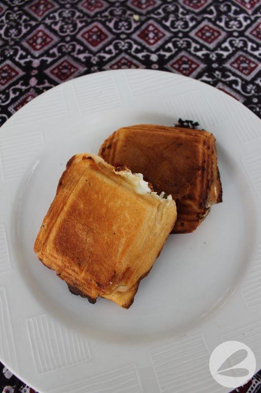 Pie Iron Sun Dried Tomato & Goat Cheese Croissant