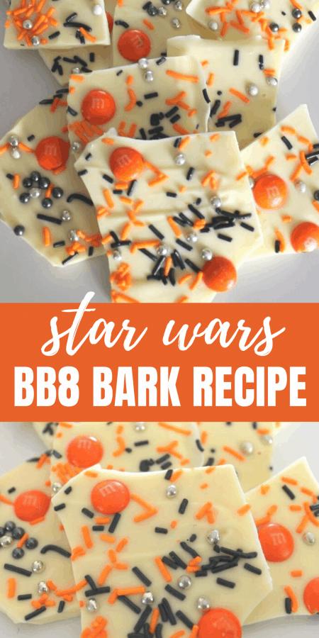 Star Wars BB8 Chocolate Bark Recipe