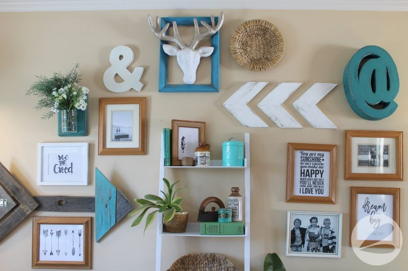 Turquoise Gallery Wall Home Tour