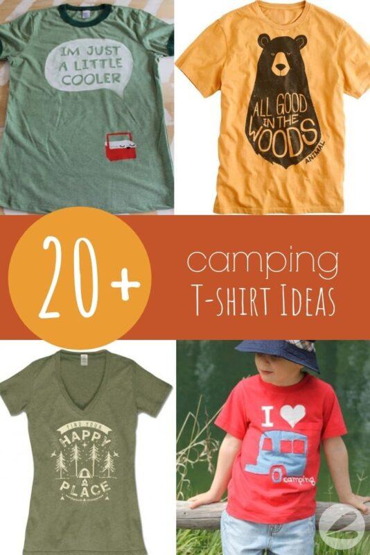 20+ Camping T-shirt Ideas