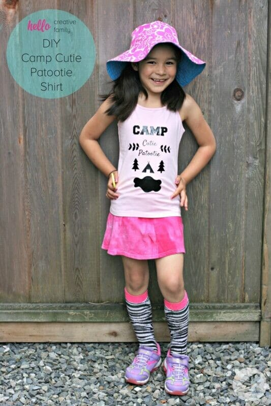 diy camp cutie patootie shirt
