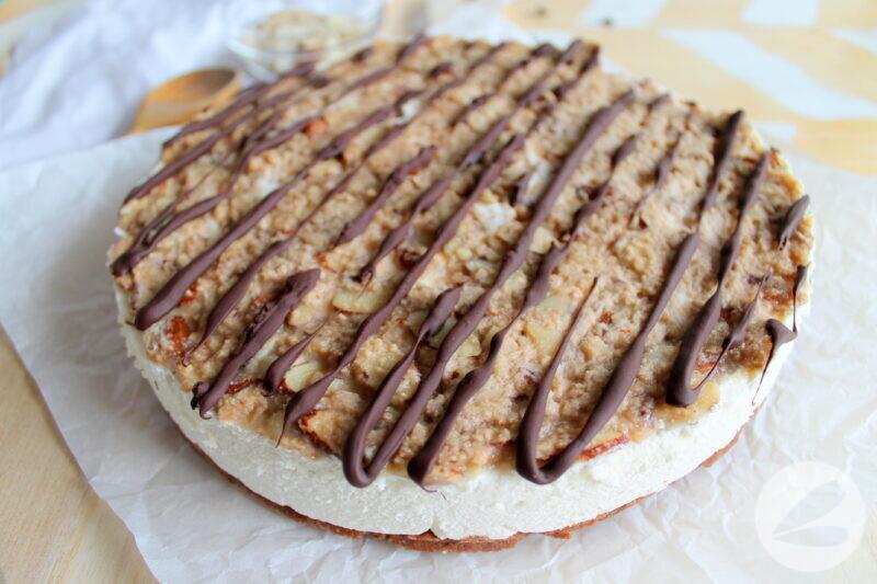 keto almond caramel cheesecake