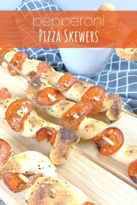 Pepperoni Pizza Skewers