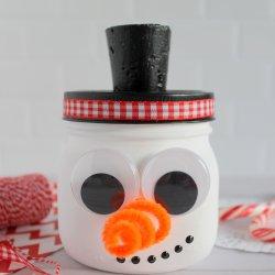 snowman mason jar craft