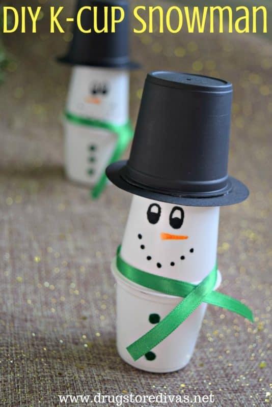 diy k cup snowman image