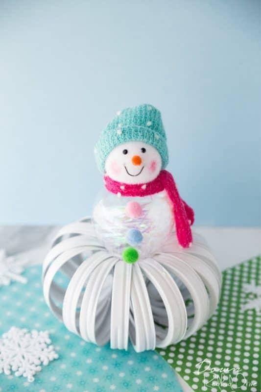mason jar lid snowman post