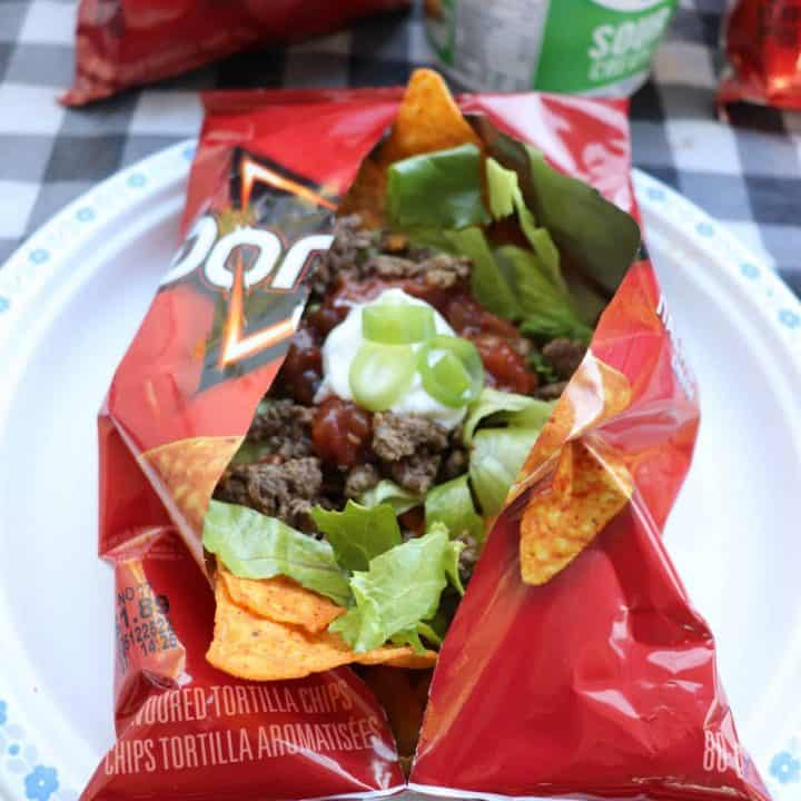 camping tacos in a bag