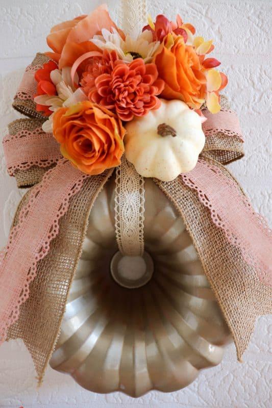 fall bundt pan wreath