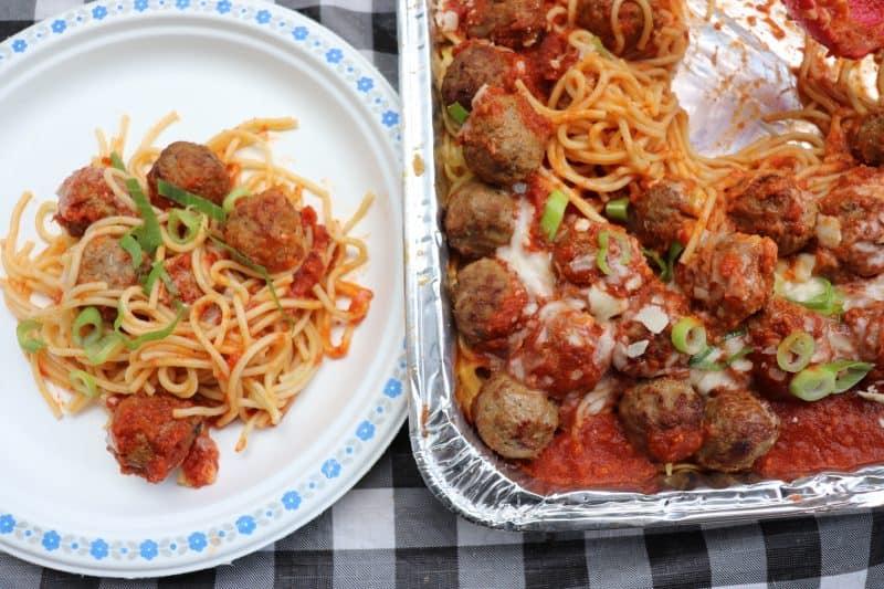 Campfire Spaghetti Bake Recipe