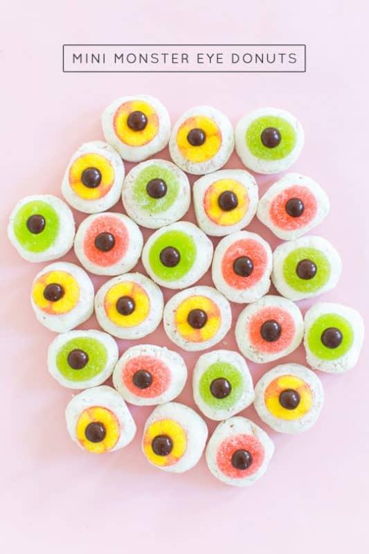 diy mini monster eyeball donuts header