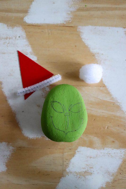 grinch rock craft