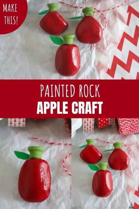 painted rock apple craft