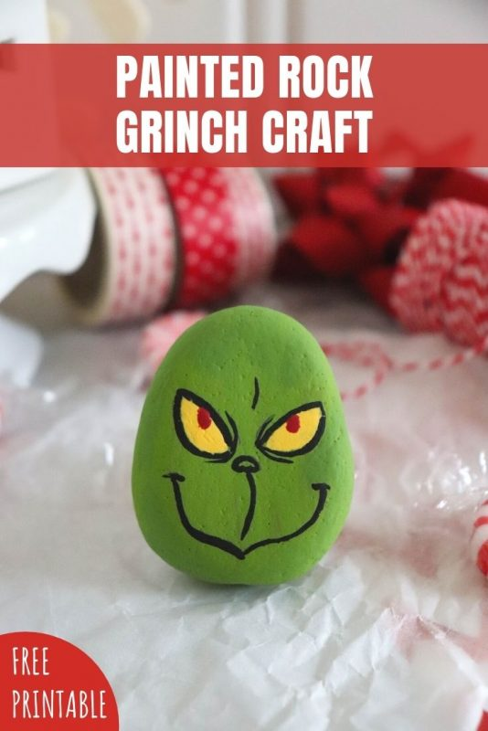 painted rock grinch