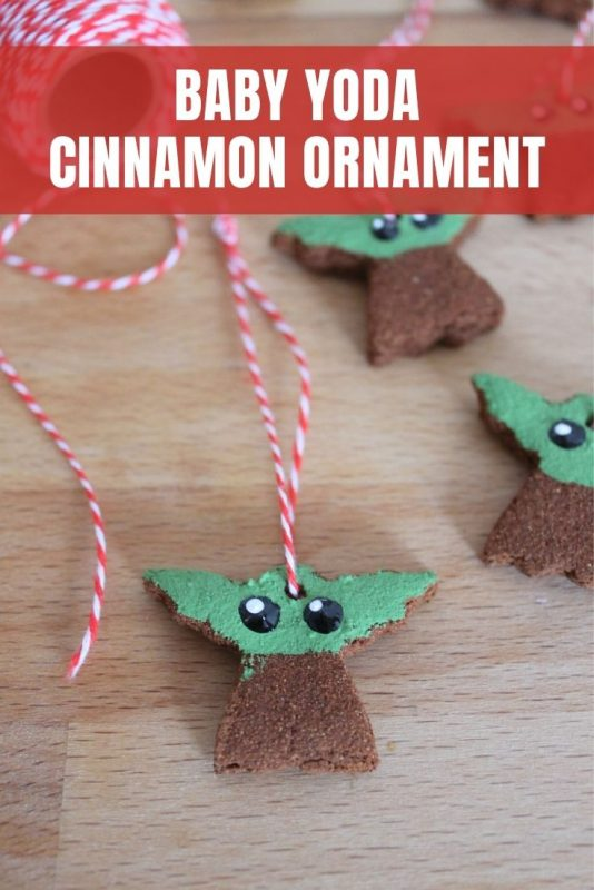 baby yoda cinnamon ornament