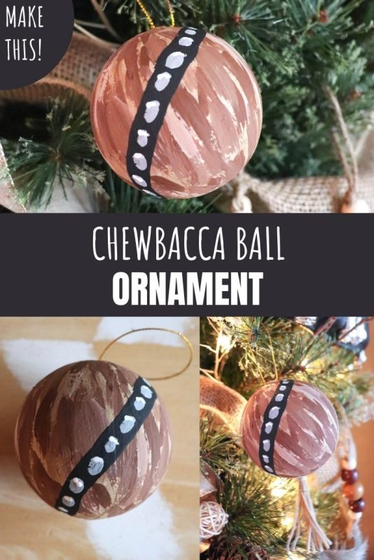 Chewbacca Ball Ornament Craft