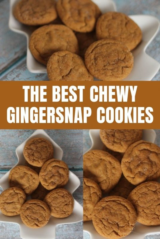 chewy gingersnap cookie recipe